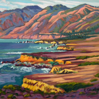 Big Sur, Oil on canvas, 24 x 30 inches