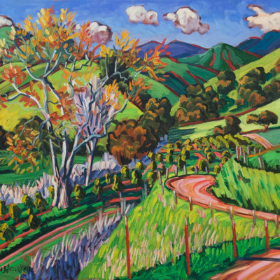 Sycamore Trees In the Valley, 30 x 40 inches