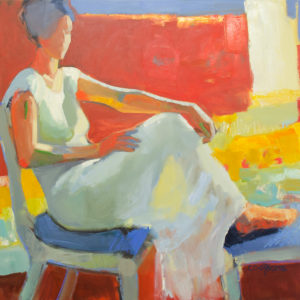 Melinda Cootsona painting of a woman sitting
