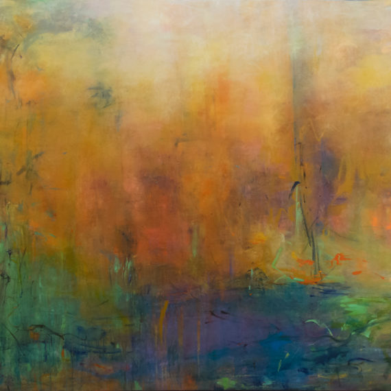 Highlands 35, Mixed media on canvas, 64 x 80 inches