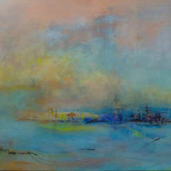 Tears of Color #7, Mixed media on canvas, 36 x 60 inches