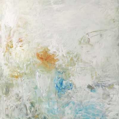 Jardin 1, Acrylic on canvas, 36 x 36 inches