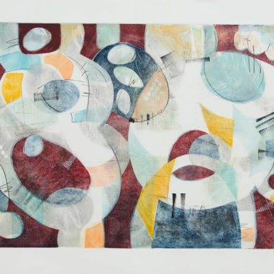 Interplay 4, Painting on Paper, 22 x 30 inches