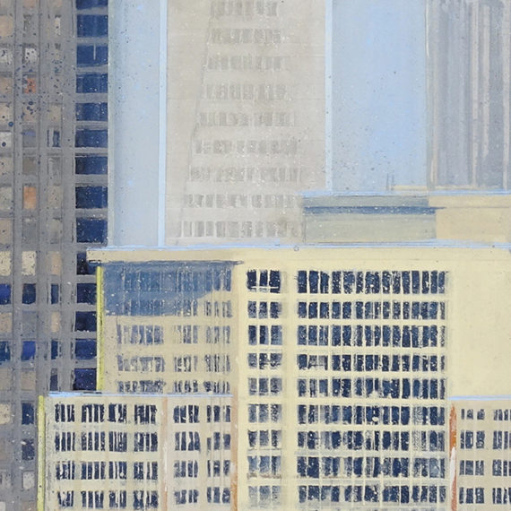 Lineup, Acrylic on Panel, 20 x 48 inches