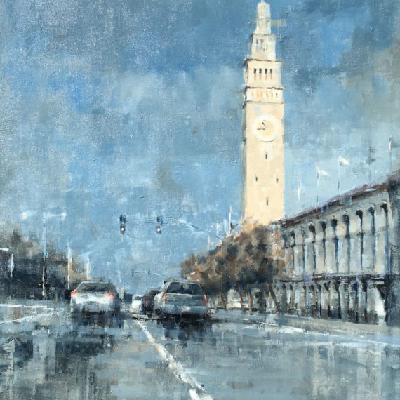 Rafferty, Along the Embarcadero, 40 x 30 inches