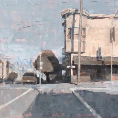Corner Store, Oil on canvas, 20 x 24 inches