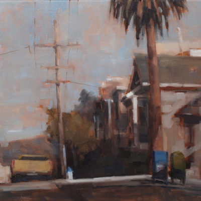 Mailboxes on Russian Hill, Oil on canvas, 11 x 14 inches