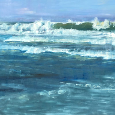 Mavericks at Low Tide, Oil on canvas, 48 x 60 inches