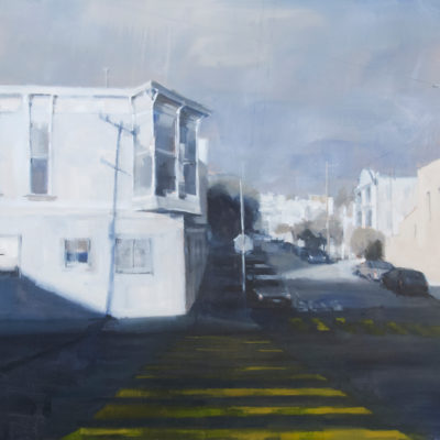 Street Corner #1, Oil on canvas, 36 x 48 inches