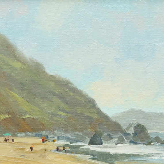 Beach Morning, Oil on panel, 9 x 12 inches