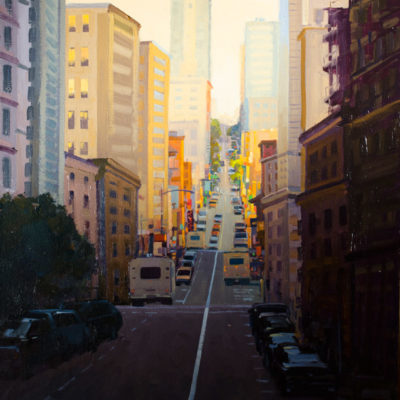 City Lights, Oil on canvas, 28 x 22 inches
