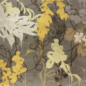 Alchemy 4060-3, Gold leaf and torch on metal mesh, 40 x 60 inches