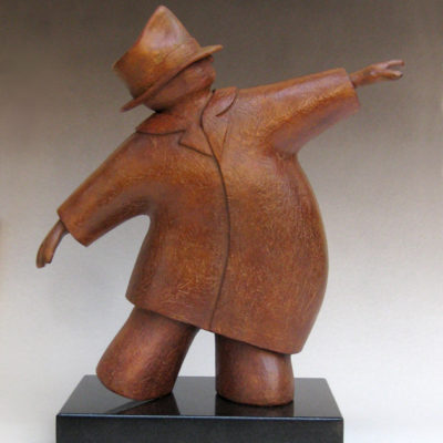 On the Move, Bronze 14 x 12 inches