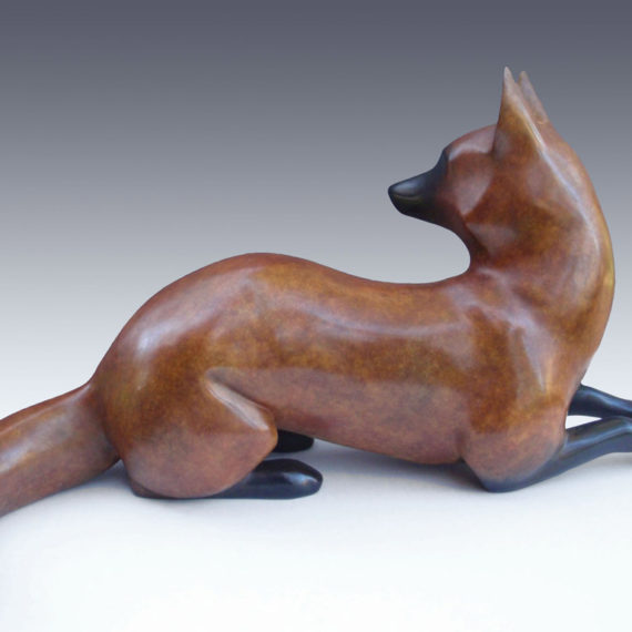 Red Fox, Bronze, 11 x 24 inches