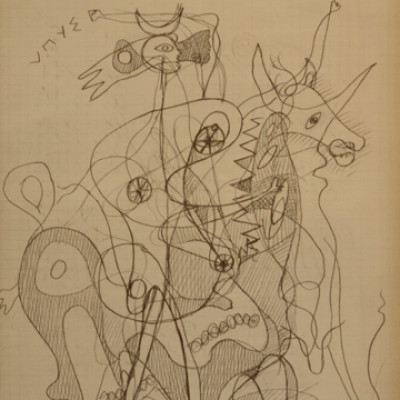 Georges Braque, Bull Rider DLM71-72, 1954, Litho, 15 x 11 inches