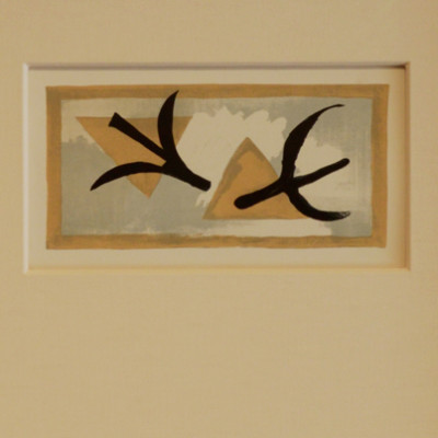 Georges Braque, Les Martinets, 1959, Litho, 4 x 11 inches