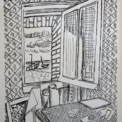 The Open Window, Lithograph, 9 1/2 x 7 1/2 inches