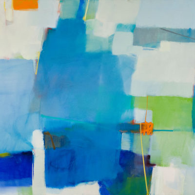 New Blue, Oil on canvas, 48 x 60 inches