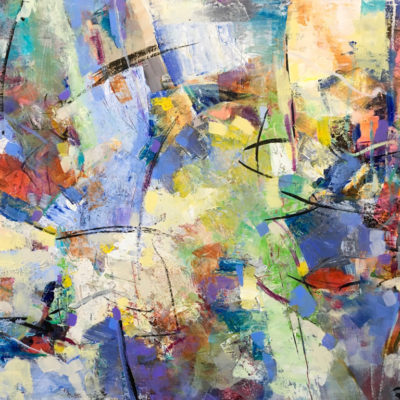Anatomy of a Garden, Mixed media on canvas, 30 x 40 inches