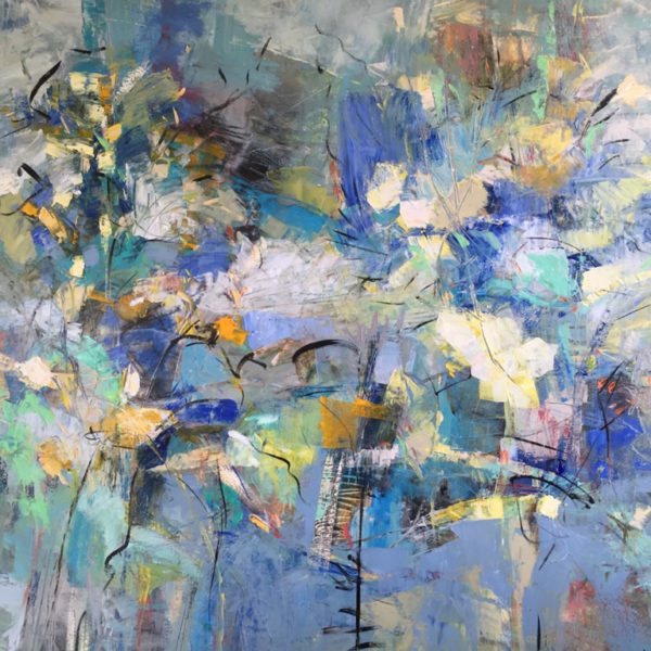 April May June, Mixed media on canvas, 60 x 72 inches
