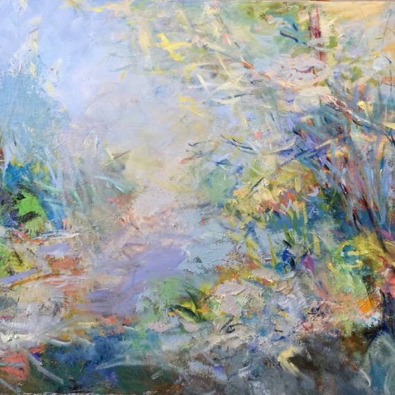 Easy Path, Mixed media on canvas, 36 x 72 inches