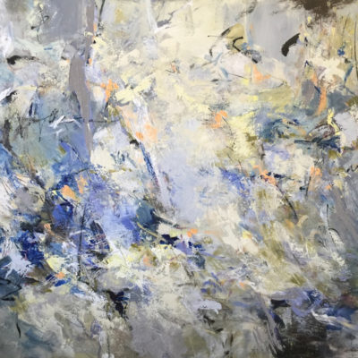 In Flight, Mixed media on canvas, 60 x 72 inches