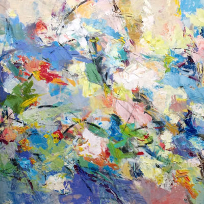 Light Days, Mixed media on canvas, 36 x 60 inches