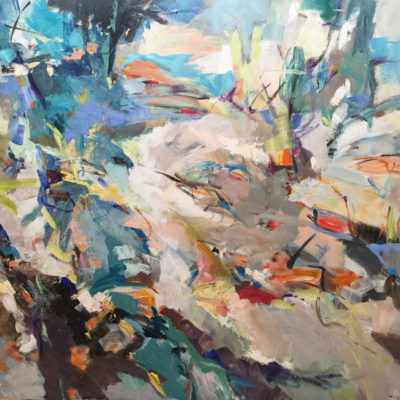Sunny Trails, Mixed media on canvas, 60 x 72 inches