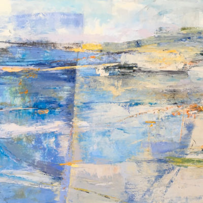 Watershed, Mixed media on canvas, 36 x 60 inches