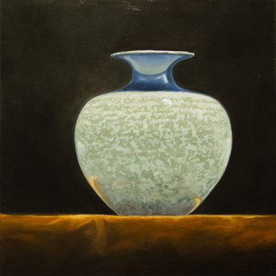 Irish Vase, Oil on panel, 10 x 10 inches