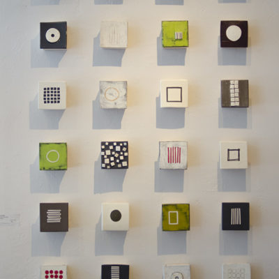 Small wall sculptures, Ceramic, 4 x 4 inches