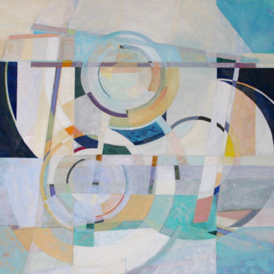 Perpetual Motion, Oil on canvas, 39 x 42 inches
