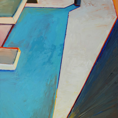 Shaded Picnic Table, Acrylic on canvas, 48 x 36 inches