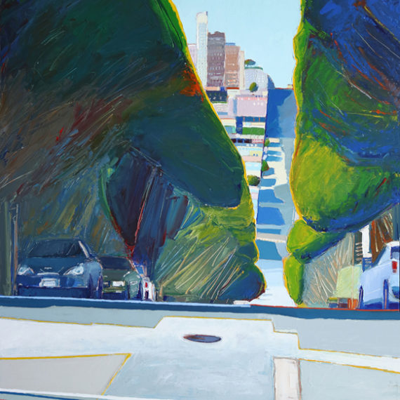Street View San Francisco, Acrylic on canvas, 48 x 36 inches