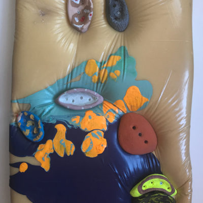 Untitled, Mixed media on wood, 29 x 19 inches