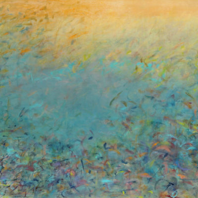 Abyss #3, Mixed media on canvas, 42 x 60 inches