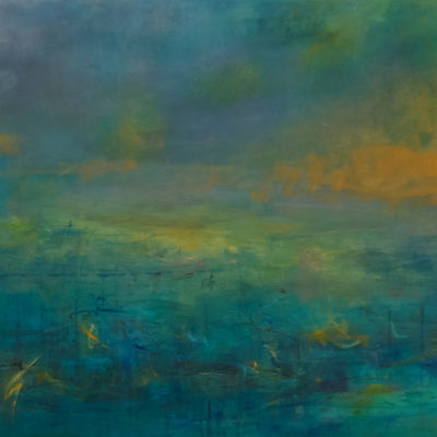 Highlands 46, Mixed media on canvas, 36 x 72 inches