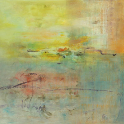 Tears of Color 1, Mixed media on canvas, 36 x 72 inches