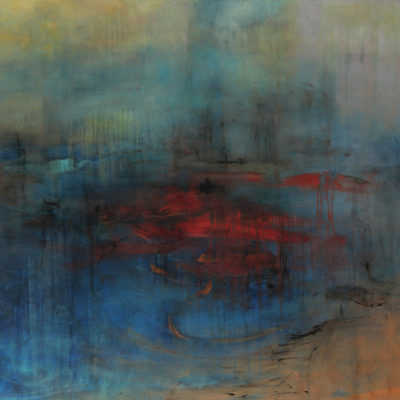 Tears of Color #2, Mixed media on canvas, 48 x 60 inches