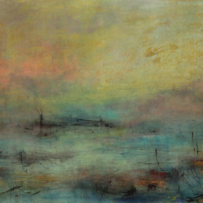 Tears of Color 9, Mixed media on canvas, 36 x 72 inches