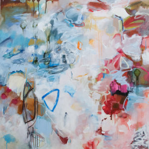 Katy Kuhn, Trickle Then Swoosh, Oil on canvas, 48 x 60 inches