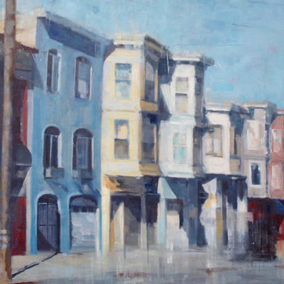 Morning on Russian Hill, Oil on canvas, 30 x 48 inches