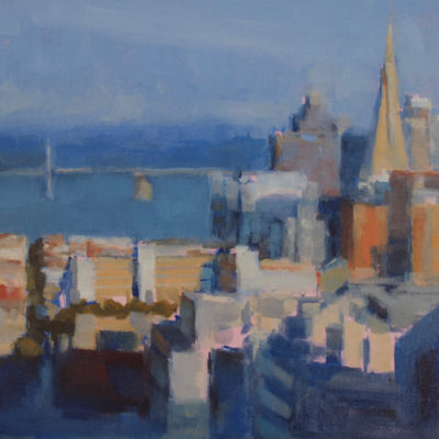 San Francisco Study, Oil on panel, 12 x 12 inches