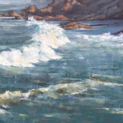 Seascape 1, Oil on canvas, 24 x 36 inches