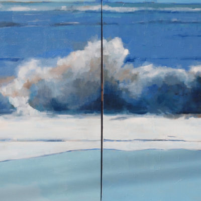 Summer Waves, diptych, Oil on canvas, 24 x 60 inches