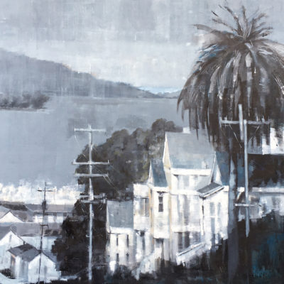View From Russian Hill, Oil on canvas, 36 x 36 inches