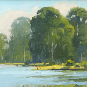 Tom Soltesz, Bolinas Lagoon, Oil On Panel, 9 x 12 inches