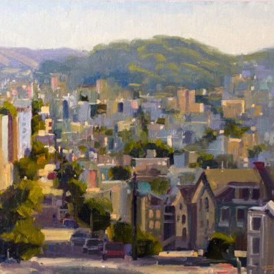 From Nob Hill, Oil on board, 12 x 16 inches