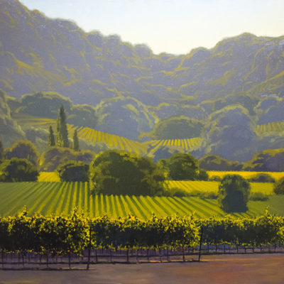 Lush Valley, Oil on canvas, 40 x 60 inches