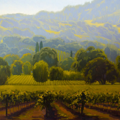 Yountville Vines, Oil on canvas, 22 x 28 inches